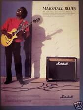 1988 vintage Ad Buddy Guy photo Marshall Blues Amp