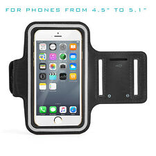 """Running Sports Gym Workout Black Armband For iPhone 6 6s 7 7s 8 4.5"""" to 5.1"""""""