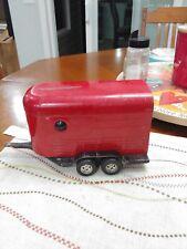 Vintage Horse Trailer Red Ertl  Pressed Steel 1970's 11 inchs long