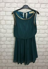LOVESTRUCK CLOTHING LADIES DRESS SIZE S/M 10/12 EMERALD PINE GREEN PARTY EVENING