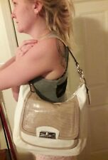 Coach Kristin spectator leather hobo, gorgeous croc flap,  leather, new w tag