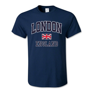 London England Unisex T-Shirt Union Jack Tee Trendy Great Britain Gift Souvenir