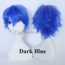 Anime Short Wig Male Female Cosplay Synthetic Hair Wig Straight Fancy Costume tw