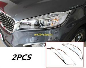 Car Exterior Front Headlight Lamp Decor Cover Trim For KLA Sorento 2015-2019