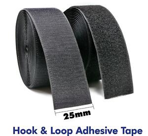 Hook and Loop Self Adhesive Tape 25mm x 3 meters