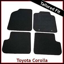 Toyota Corolla Mk9 / E120 E130 2001-2007 Tailored Fitted Carpet Car Mats BLACK