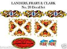 Landers, Frary & Clark LF&C No. 20 Coffee Grinder Mill Restoration Decal Set