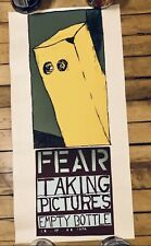 Rare Fear Concert Poster Mat Daly Jay Ryan Bird Machine Empty Bottle Chicago
