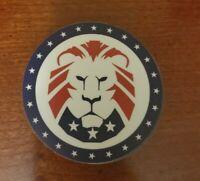 3 inch Round TRUMP 2020 Political Sticker Lion Logo MAGA LION alternative