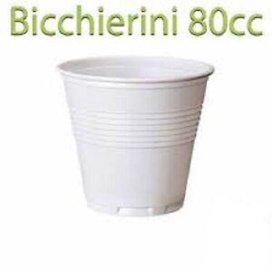 5400x bicchierino plastica 80cc Caffe bicchierini caffè bianco per Bar