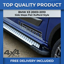 BMW X3 2003>2010 ALUMINIUM DOTTED RUFFORD SUV 4X4 SIDE STEPS RUNNING BOARDS