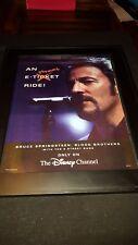 Bruce Springsteen Rare Disney Channel Concert Promo Poster Ad Framed!
