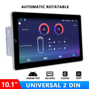 """JOYING Automatic Rotatable Touchscreen 10.1"""" Android 10.0 Head Unit  Double Din"""