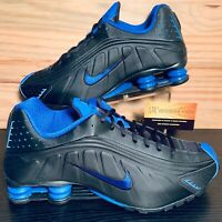 Nike Shox R4 Game Royal Men's Running Training Shoes Size 11.5 Black Blue NEW