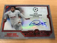 Danny Rose 24/25 Red Archival Auto 2018 Topps Champions League Museum Spurs