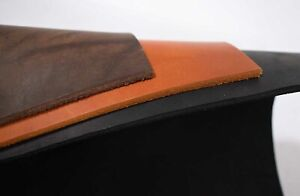 Bullenleder Dickleder 3,5-4,0 mm schwarz / natur / braun Blankleder Stücke #DOR