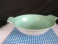 Vintage POOLE POTTERY-Twintone~*Ice Green & Seagull*~1 OPEN SERVING DISH