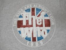 THE WHO ROCK BAND THE KIDS ARE ALRIGHT TOUR 1989 -GRAY MEDIUM T-SHIRT-D1799