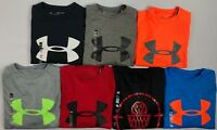 Boy's Youth Under Armour Heatgear Loose Fit Long Sleeve Polyester T-Shirt Size S