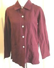 LAURA ASHLEY Silk & Linen Button Down Shirt 4 USA 8 UK 34 EUR Long Sleeves