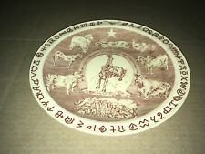 VINTAGE VERNON KILNS SOUVENIR HOUSTON FAT STOCK SHOW PLATE