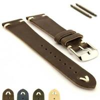 Genuine Leather Watch Strap Band in Oldfangled Style 18 19 20 22 Texas MM