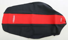 SDG Dual-Stage Gripper Seat Cover, Red/Black, 96706RK