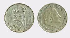 pci4582) Netherlands  Juliana - 1 gulden  1956 silver