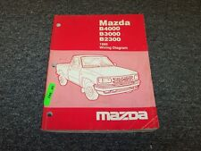 1995 Mazda B4000 B3000 B2000 Pickup Truck Electrical Wiring Diagram Manual Book
