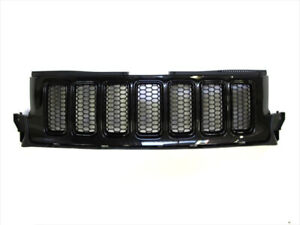 2011-2013 Jeep Grand Cherokee FRONT GRILLE BRILLIANT BLACK OEM NEW MOPAR GENUINE