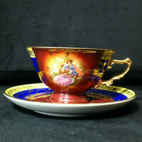 "Fragonard ""Love Story Courting Couple"" Germany Porcelain Tea Cup & Saucer #202"