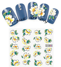 20 nail stickers water transfer- FLOWERS-tattoo adesivo - FIORI - BUY 3 GET 1!!!