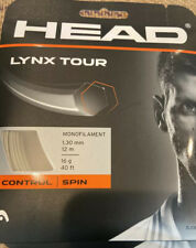 Head Lynx Tour 16 Gauge 1.30mm Tennis String Champagne, 4 Sets