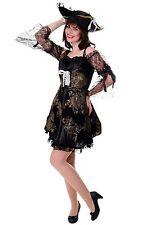 DRESS ME UP Kostüm Damenkostüm Kleid Funkenmarie Barock Piratin Seeräuberin Gr.