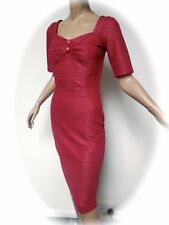 VINTAGE STYLE COLLECTIF 1950S STYLE WIGGLE DOLORES DRESS XS 8 UK NWTS 43f0be915c7
