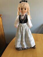 "Vintage Eugene Plastic Doll 1977 Blonde Blue Eyes 24"" Tall Norwegian Swedish"