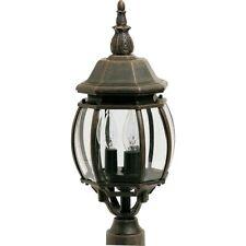 Maxim Crown Hill 3-Light Outdoor Pole/Post Lantern Rust Patina -1035RP