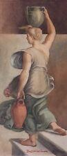 Portrait of a Lady, Watercolor by Marcucci, 19th Century Italian