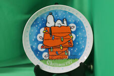 Peanuts Christmas 1977 Plate  by Schmid