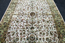 9X6 Breathtaking New 200+Kpsi Hand Knotted Ivory Wool Pak Tabrizz Oriental Rug