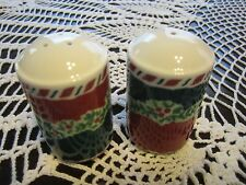 Fitz and Floyd Yuletide Holiday Salt & Pepper Shakers No Box Unused Christmas