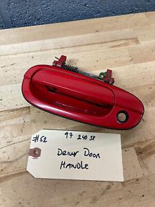 *#52- 1997 Nissan 240sx S14 OEM Drivers Side door handle Red Exterior Handle