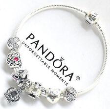 ALL Authentic Pandora 925 Silver Bracelet 7 Pandora Charms Birthday DISNEY NIB