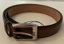 """Gucci Mens Leather Belt 336831 w/ Classic Square Buckle (Medium Brown) - 44"""" NEW"""