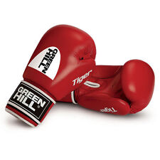 Greenhill Tiger Red 16 Oz Leather Boxing Gloves Training Sparring MuayThai Punch