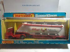 Matchbox Super Kings #K-3 Kellogg's Grain Transporter Truck