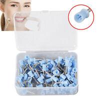 100pcs Dental Rubber Prophy Cup polishing cup Latch Type Coupe de polissage Blue