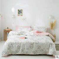 3D Rabbit Head ZHUA4122 Bed Pillowcases Quilt Duvet Cover Set Queen King Zoe