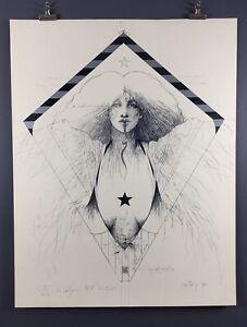 "Ramon Santiago ""Kite Poster"" 1980, 24x36 Inches, Excellent Condition!"
