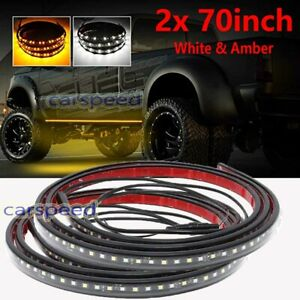 "70"" Side Step LED Running Board Light Turn Signal DRL Marker Strip Truck Pickup"